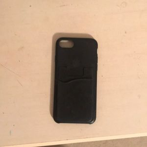 Black iPhone 7s case (includes card holder)